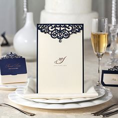 Decorative Pattern Design Wedding Invation-Set Of 20/50 – USD $ 34.99