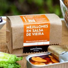 MEJILLONES EN SALSA DE VIEIRA Coffee, Drinks, Food, Preserve, Sauces, Baler, Mussels, Kaffee, Drinking