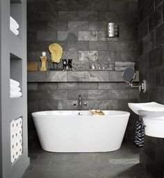 Slate Tiles Everywhere In Your Home - www.freshinterior.me