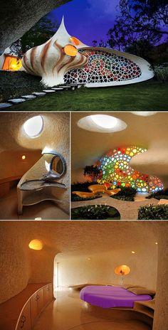 Nautilus House, Mexico City, Mexico. Built by Arquitectura Organica
