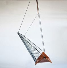 The Solo Cello, A Modern Steel And Leather Hanging Chair By Felix Guyon.