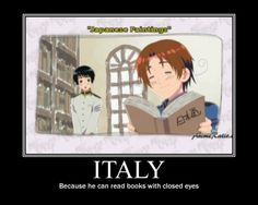 """Apparently Italy can also """"read"""" paintings...lol :D #Hetalia"""