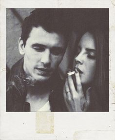 couple Black and White smoke hipster Grunge James Franco Smoking lana del rey grunge couple