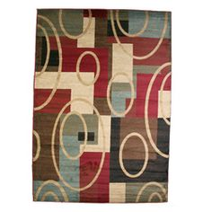 Broadway Multicolor Area Rug (7'10 x 9'10)