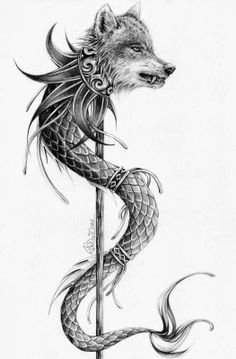 Dacian Wolf Wolf Tattoos, Elbow Tattoos, Baby Tattoos, Arm Tattoo, Tatoos, Wolf Tattoo Design, Squid Tattoo, George & Dragon, Wood Carving Patterns