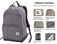 D89 Carhartt Backpack / Crafted in Carhartt