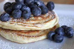 Creme Fraiche Blueberry Pancakes