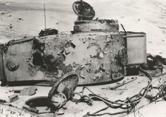 A penetration below the smoke discharger on the turret of this Tiger 1 caused it to catch fire and wrinkle the paint due to the heat