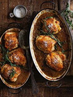 This golden tarragon and brandy braised onion and roasted chicken dish is so irresistibly delicious, it's sure to become a family favourite. Duck Recipes, Best Chicken Recipes, Turkey Recipes, Meat Recipes, Dinner Recipes, Cooking Recipes, Healthy Recipes, Onion Recipes, Recipies