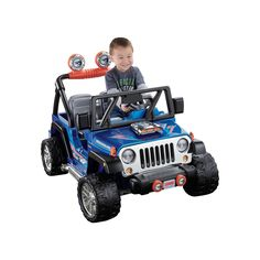 Power Wheels Hot Wheels Ride-On Jeep Wrangler by Fisher-Price, Multicolor