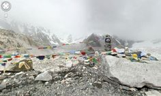 Climb any mountain with Google Streetview  Nice view: Everest base camp as seen on Google Streetview.