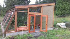 Timber frame construction - cob infill - greenhouse