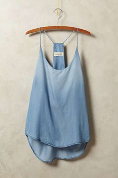 Anthropologie - Chambray Racerback Tank
