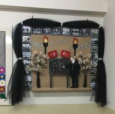 Atatürk haftası Diy And Crafts, Crafts For Kids, Arts And Crafts, Class Bulletin Boards, Class Decoration, Creative Writing, Kids And Parenting, Art Lessons, 3 D