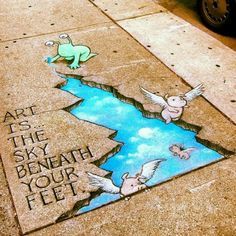 David Zinn, street art                                                                                                                                                      More