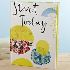 Hardcover Book 'Start Today' Lovely #christmas #gift $31.95 https://www.everythingbutflowers.com.au/christmas/women/start-today