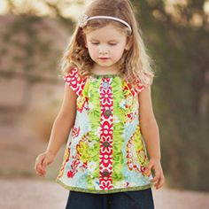 Download Beachcomber Ruffle Swing Top Sewing Pattern | Most Popular Downloadable Sewing Patterns | YouCanMakeThis.com