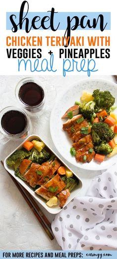 ThisSheet Pan Chicken Teriyaki with Veggies and Pineapple is SO fast and easy to make!