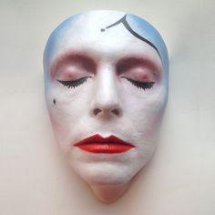 Pierrot mask by Nicholas Boxall.
