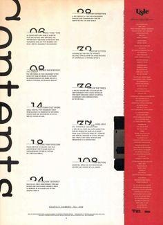 TypeTalk - U&lc Magazine Retrospective: Reinventing Tables of Contents | CreativePro.com