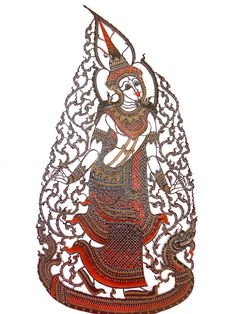 Southern Thailand Shadow Puppet Wall Art Decoration - Lady Sida