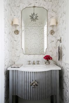 BEFORE AND AFTER POWDER ROOM AND FOYER - design indulgence