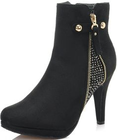 Dream Pair Women's Cecile Chic Detailed Rhinestone Stud Embellishment Platform High Heel Shoes Booties >>> This is an Amazon Affiliate link. Details can be found by clicking on the image.