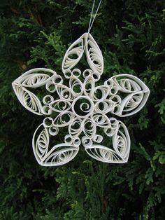 Quilled Christmas Ornament. $10.00, via Etsy.