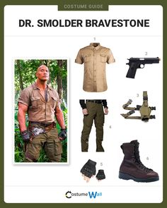 """The best cosplay guide for dressing up like Dr. Smolder Bravestone, the archaeologist played by Dwayne """"The Rock"""" Johnson in Jumanji."""