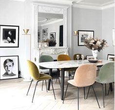 Dining room furniture ideas that are going to be one of the best dining room design sets of the year! Get inspired by these dining room lighting and furniture ideas! Room Design, Interior, Dining Room Chairs, Home Decor, House Interior, Dining Room Table, Dining Room Blue, Interior Design, Chic Dining Room