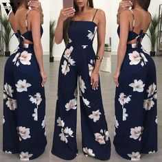 Womail bodysuit Women Summer Fashion Ladies Clubwear Floral Playsuit Bodycon Party Jumpsuit Trousers new 2019 dropship Bodycon Jumpsuit, Casual Jumpsuit, Ladies Jumpsuit, Bodycon Clothes, Elegant Jumpsuit, Jumpsuit Outfit, Bachelorette Outfits, Floral Playsuit, Floral Jumpsuit
