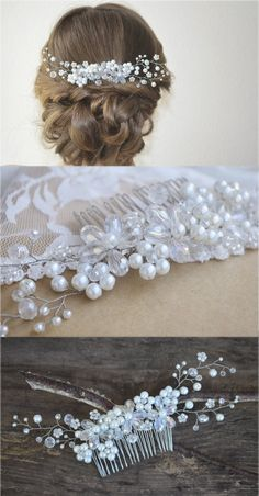 Bridal Hair Comb Wedding Hair Piece Bridal Crystal by NovaHandmade