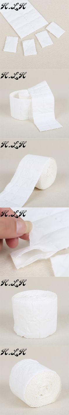 H.L.H 1 Roll Nail Tools Bath Manicure Gel Nail Polish Remover Lint-Free Wipes Cotton Napkins For Nails Nail Art Removal Wipes