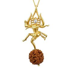Salutations to the God of Gods, Lord Shiva, the Devourer. This pendant depicts the Lord performing Tandav in a beautiful artistic manner decorated with 'Om' symbol, Tripund and Trishul. Trishul, Shiva Tandav, Lord Shiva Hd Wallpaper, Lord Shiva Family, Golden Jewelry, Hindu Art, Gold Pendant, Indian Jewelry, Jewelry Collection