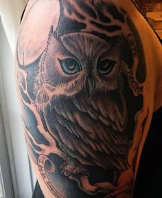 Owl Tattoo Design Ideas The Best Collection Top Rated Stylish Trendy Tattoo Designs Ideas For Girls Women Men Biggest New Tattoo Images Archive Owl Feather Tattoos, Owl Tattoos On Arm, Tribal Chest Tattoos, Mens Owl Tattoo, Simple Owl Tattoo, Colorful Owl Tattoo, Owl Tattoo Design, Tattoo Designs Men, Places For Tattoos