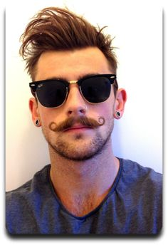 Excellent Style And Mustache Styles On Pinterest Short Hairstyles Gunalazisus