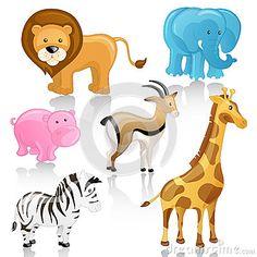 African Cartoon Animals by Ramona Kaulitzki, via Dreamstime