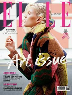 "Cover Elle México ""Art Issue"" October 2014 Feat Jennifer Pugh http://consultante-retail.blogspot.fr/2014/09/cover-elle-mexico-art-issue-october.html"