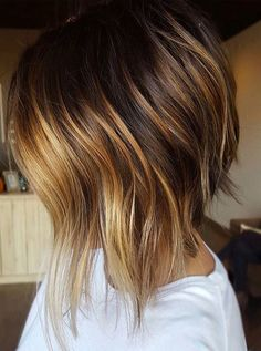 Dark Hair Color with Highlights for Short Hairstyles 2018