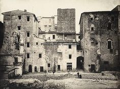 FIRENZE SCOMPARSA: vecchio centro corrispondenti a Via Lontanmorti,Via Calimala e Piazza del Mercato Nuovo,17/10/1893