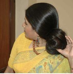 Bun Hairstyles For Long Hair, Braids For Long Hair, Braided Hairstyles, Indian Hair Cuts, Indian Long Hair Braid, Beautiful Long Hair, Gorgeous Hair, Amazing Hair, Cut My Hair