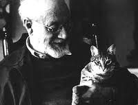 Henri Matisse with his cat. From Deborah Julian Art — Famous Artists' Cats And Their Stories