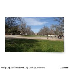 Pretty Day In Colonial Williamsburg, VA Rectangular Sticker