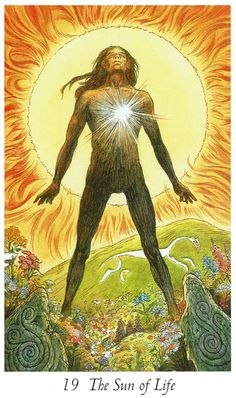 XIX. The Sun (The Sun of Life) - Wildwood Tarot by John Matthews, Mark Ryan, Will Worthington