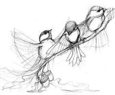 chickadee-sketch by Nothing Worth Stealing #ilustración #cerámica #www.resulabrador.com