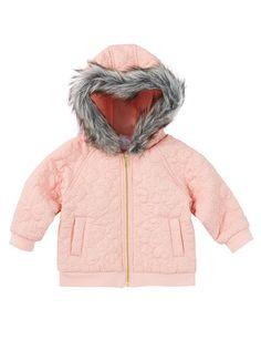 Teeny Weeny Hooded Glitter Spot Jacket product photo