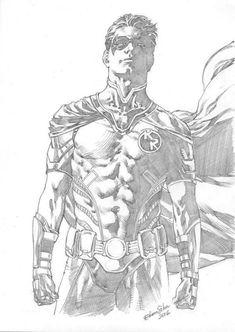 robin by ediano silva Comic Art Comic Book Artists, Comic Artist, Comic Books Art, Dc Comics Art, Dc Comics Characters, Art Sketches, Art Drawings, Comic Book Drawing, Graphic Novel Art