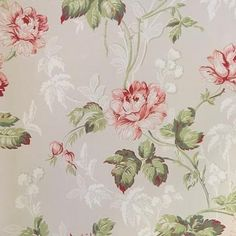 Lim och Handtryck, a small group of Swedish craftsmen in Molndal near Gothenburg producing eco-friendly and sustainable wallpapers with historical backgrounds. Old wallpaper rolls are used and some papers are very handmade. | Lim och Handtryck Rosen wallpaper