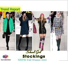 School Girl Stockings Are Trendy for Fall Winter 2014 #nyfw #nyfw2014 #fw14 #fall2014 #fashion #trends