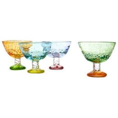 Check out this item at One Kings Lane! S/4 Assorted Sunrise Dessert Coupes